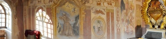 Restoration of baroque frescoes in the chapel 4 – The chapel of the Sacred Heart of Jesus