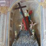 Replica of stolen statue of St. Helen with cross is already in the church